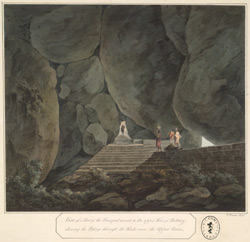 A passage through the rocks leading to the upper fort of Bellary.